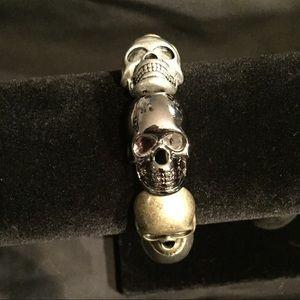 🆕Skullhead multi-tone Bracelet